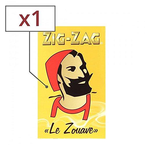 papier à rouler zig zag jaune x 1