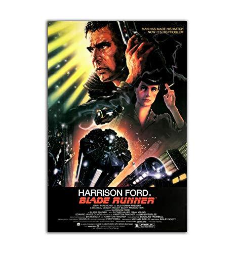 BaikalGallery Poster Blade Runner (1982) TAMAÑO 60X90CM (F0093) –Impresión en Papel Fotográfico Gramaje 250gr - Laminado en Acabado Satinado