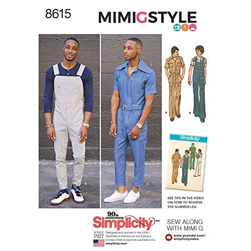 Simplicity Vintage US8615AA Vintage Jumpsuit & Overalls, AA (34-36-38-40-42)