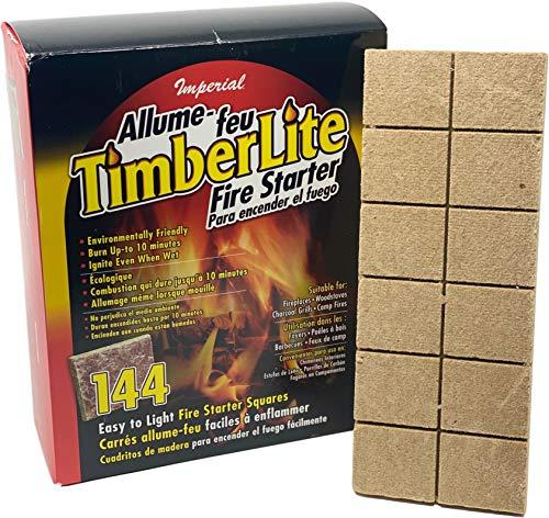 Imperial Timberlite Fire Starter 144 Squares KK0313Brown