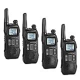 Radioddity PR-T1 Walkie Talkie Niños Radio portátil PMR 446 sin Licencia, 16 Canales con Display y Carga USB, Pack de 4