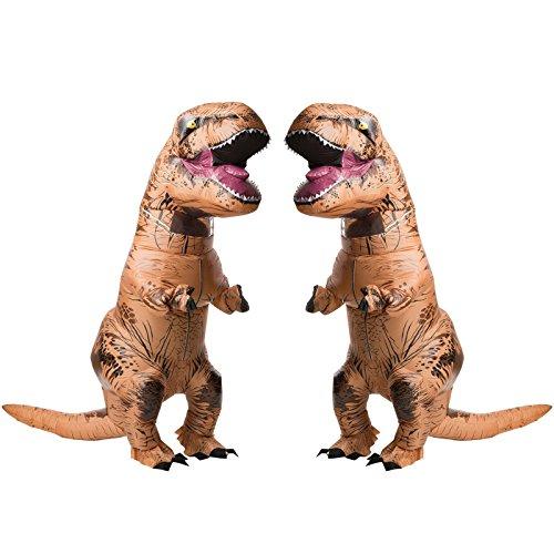 RUBIE'S COSTUME COMPANY Jurasic World T-Rex Adult Inflatable Costume 2 Pack Bundle Set