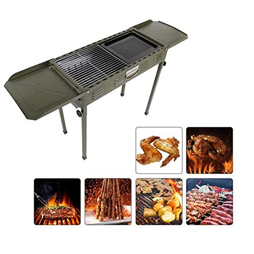 Wealthgirl Parrilla de barbacoa portátil, parrilla de carbón para barbacoa, horno de carbono, para el hogar, camping, para cocinar al aire libre, camping, picnic, patio, cocina