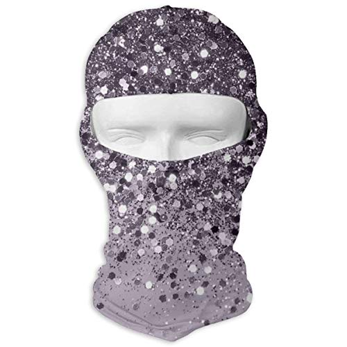 N/Een volledig gezichtsmasker mousserende lavendel Lady Glitter kap zonnebrandcrème masker dubbele laag koud voor mannen en vrouwen