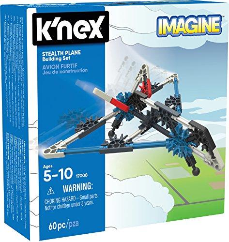 K'NEX - Imagine Stealth Plane - Juego de construcción de avión sigiloso para niños de 5 años de edad, juguete para construcción, con 61 piezas , color/modelo surtido