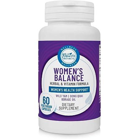 Nature's Instincts Women's Balance Herbal & Vitamin Formula for Hormonal Health | Women's Health Supplement - Vegan & Gluten Free, 60Count
