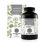 NATURE LOVE Magnesio - 1500 mg citrato de magnesio, de ello 240 mg magnesio elemental por dosis diaria. 180 cápsulas. Controlado en el laboratorio. Vegano, alta dosis, elaborado en Alemania.