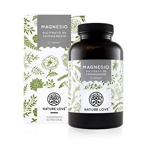 NATURE LOVE® Magnesio - 1500 mg citrato de magnesio, de ello 240 mg magnesio...