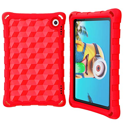 DJ&RPPQ 2020 All-New Tablet 8'' Case and Cover (Compatible with 10th Generation Tablets, 2020 Releases) - Anti Slip Shockproof Light Weight Protective Case [Kids Friendly] - Red