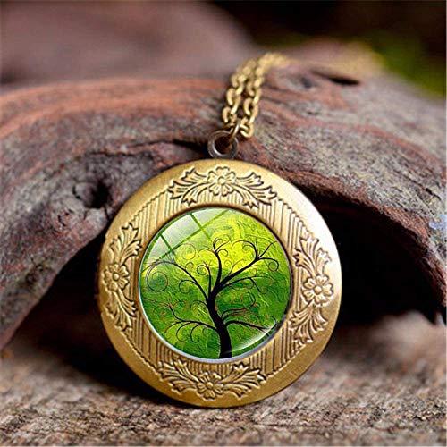 DZX Joyería de Piedras Preciosas del Tiempo, Planta Verde Fresca del árbol...