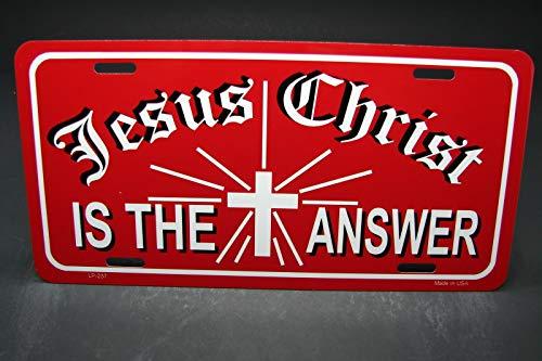 MNUT Jesucristo Metal Aluminio Coche Licencia Placa Religiosa Cruz Cri