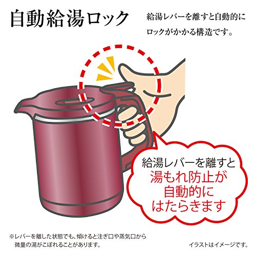 象印 電気ケトル 1.0L 沸騰後1時間90℃保温 メタリックブラウン CK-AW10-TM