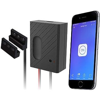 EACHEN Controlador de Puerta de Garaje WiFi funciona con Alexa/Google Home/Ewelink APP/IFTTT, Controle la Puerta de su Garaje desde cualquier parte del mundo