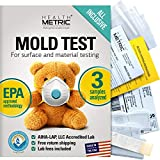 Mold Test Kit for Home - All-Inclusive Detection Kit DIY Mold Detector for Visual incl. Black Mold and Mildew | EPA Approved & AIHA Accredited Lab Analysis | Shipping & Lab Fees Included for 3 Samples