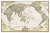 National Geographic Map Executive World, Pacific Centered, Planokarte