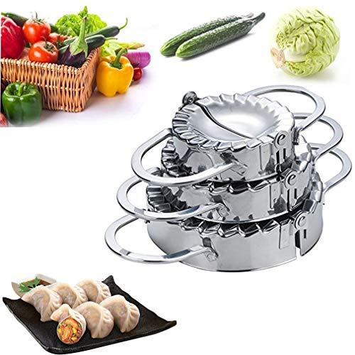 RoseFlower 3 Stück Edelstahl Ravioli Dumpling Maker set, 3 Stück Verschiedene Größen Dumpling Maker-Ravioli Mold Gebäck-Werkzeuge