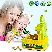 VATOS Acchiappa la Talpa,Mini-Giocattolo elettronico Arcade,Giocattolo Fornito di Monete e di 2 martelli Giocattolo,Gioco interattivo per i Bambini e Bambini di età Compresa tra 3-6 Anni #3