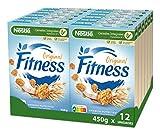 Cereales Nestlé Fitness Original - Copos de trigo integral, arroz y avena integral tostados - 12 paquetes x 450g
