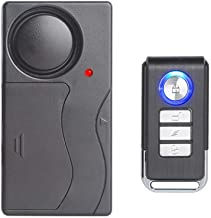 Mengshen Alarma de Vibración Inalámbrica, Alarma Antirrobo para Bicicleta/Motocicleta/Automóvil/Vehículos/Puerta/Ventana, 110db de Voz Alta (Control Remoto Incluido)