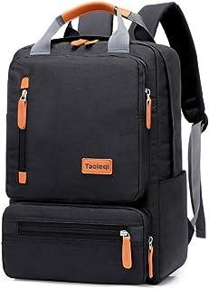 Mochila para ordenador portátil (15,6 pulgadas, impermeable, para viajes, negocios, universidad, hombres), color negro