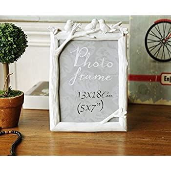 SATYAM KRAFT Resin Wall Photo Frame (5 x 7 inch, White)