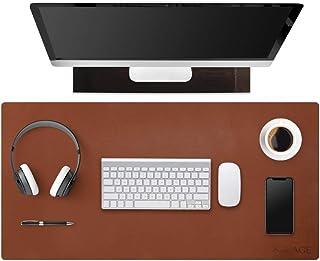 SenseAGE ECO Naturalna gumowa podkładka na biurko, skórzana mata na biurko podkładka pod mysz, antypoślizgowa skóra PU pod...