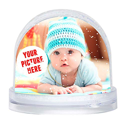 Gifty Lab Palla di Neve Personalizzata con la Tua Foto, fotobolla