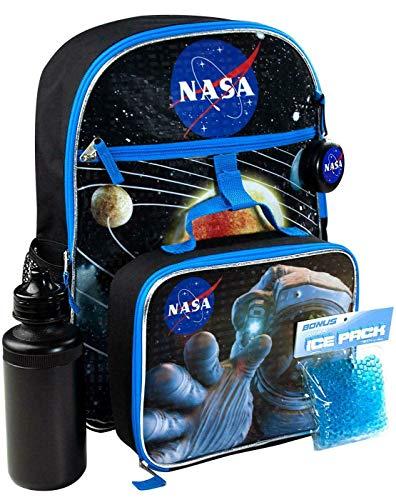 Nasa Space Kinder/Jungs/Mädchen Schultasche 5 Stück Backpack Rucksack und Brotdose Kit