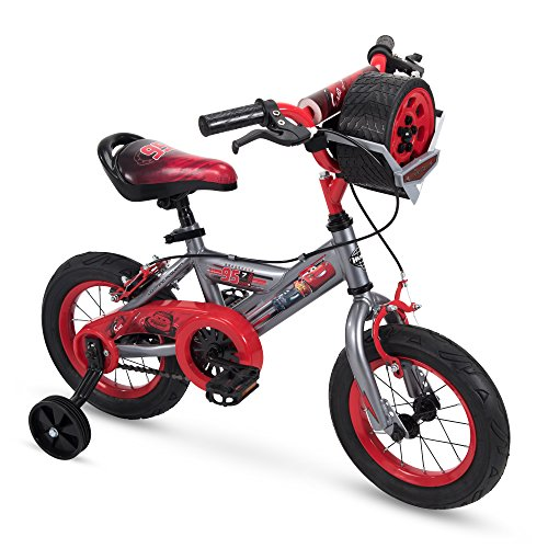 Huffy 12quot Disney/Pixar Cars Boys Bike with Tire Case Gray