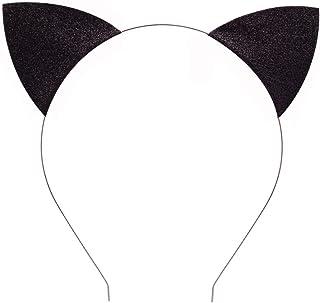 Glitter Cat Ears Headband Halloween Fancy Dress Cat Woman...