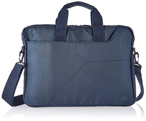 """RIVACASE Tasche für Notebooks bis 15.6"""" – Sehr kompakte Laptoptasche mit gepolsterten Wänden & Zubehörfächern – Dunkelblau"""
