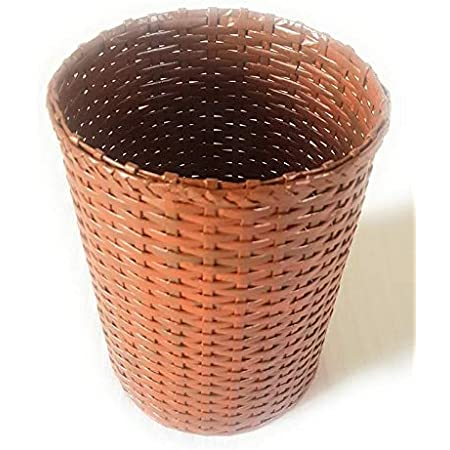 PAPERUS Sonas Creation Customizable Light Brown Waste Basket Dustbin Trashcan Paper Bin Indoor Planter Open Bin STANDARD Size 10 ltrs & 11 Inch TALL Eco-friendly Sustainable Handmade of Paper Ropes