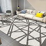 Decoración para el hogar Alfombra grande pequeña sala de estar alfombra dormitorio suave felpa alfombras niños gatear geometría nórdica estilo alfombra lavable alfombra habitación 200* 250 cm