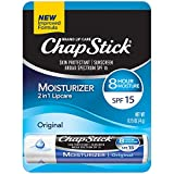 ChapStick Moisturizer (Original Flavor, 0.15 Ounce) Lip Balm Tube, Skin Protectant, Lip Care, SPF 15 (Pack of 12)