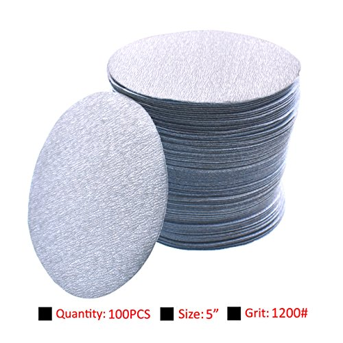 Great Features Of NAVARME 100pcs 5inch Sanding Discs Hook and Loop Sandpaper Backing 1200 Grit Sandp...
