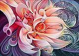 DIY 5D Diamant Malen nach Zahlen Kit,DIY 5D Diamant Painting Fantasie Blume Pink 5d malerei Kristall Strass Stickerei Kreuzstich Gemälde Kunst Craft Supply Canvas Wall Decor 40 x 30 cm