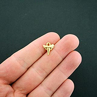 Extensive Collection of Charm 12 Shark Tooth Charms Gold Tone - GC902 Express Yourself