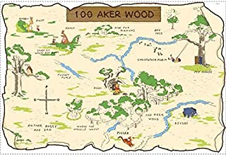 RoomMates Winnie The Pooh 100 Aker Wood Peel and Stick Map