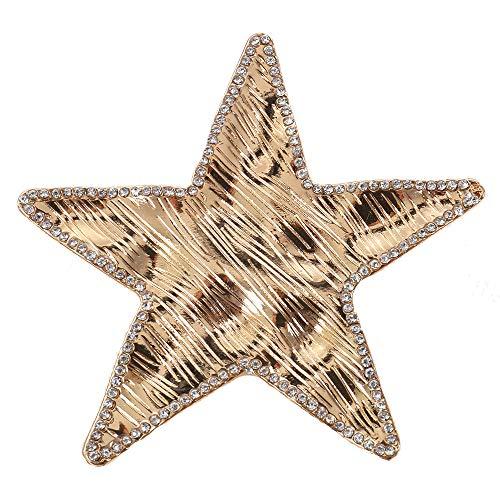 Treend24 Damesbroche ster strass goud sjaal clip bekleding steeknaald poncho zakken steel textiel sieraden uil hart ster