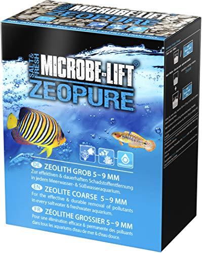MICROBE-LIFT Zeopure - Premium Zeolith Filtermedium, hilft bei Algen, Giftstoffen und Schwermetallen im Aquarium, 1000ml