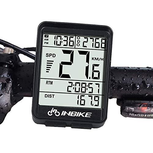 Lightinthebox IC321 Fahrradcomputer mit Kilometerzähler, wasserdicht, Stoppuhr, kabellos, Rennrad, Mountainbike, Feste Ausrüstung von INBIKE