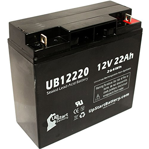 Replacement for UB12220 Universal Sealed Lead Acid Battery Replacement (12V, 22Ah, 22000mAh, T4 Terminal, AGM, SLA) - Compatible with SUNNYWAY SW12200 Battery
