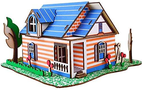 ZT Bloque de construcción, edificio de la casa de construcción Modelo Bloque de construcción 15 + PCS Nano Mini Bloques DIY Juguetes, Puzzle 3D DIY Juguete educativo, DIY Puzzle de madera tridimension