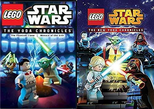 The Force Is Strong This One With: The Yoda Chronicles + The New Yoda Chronicles Star Wars Lego 2 DVD 6 Episode Set