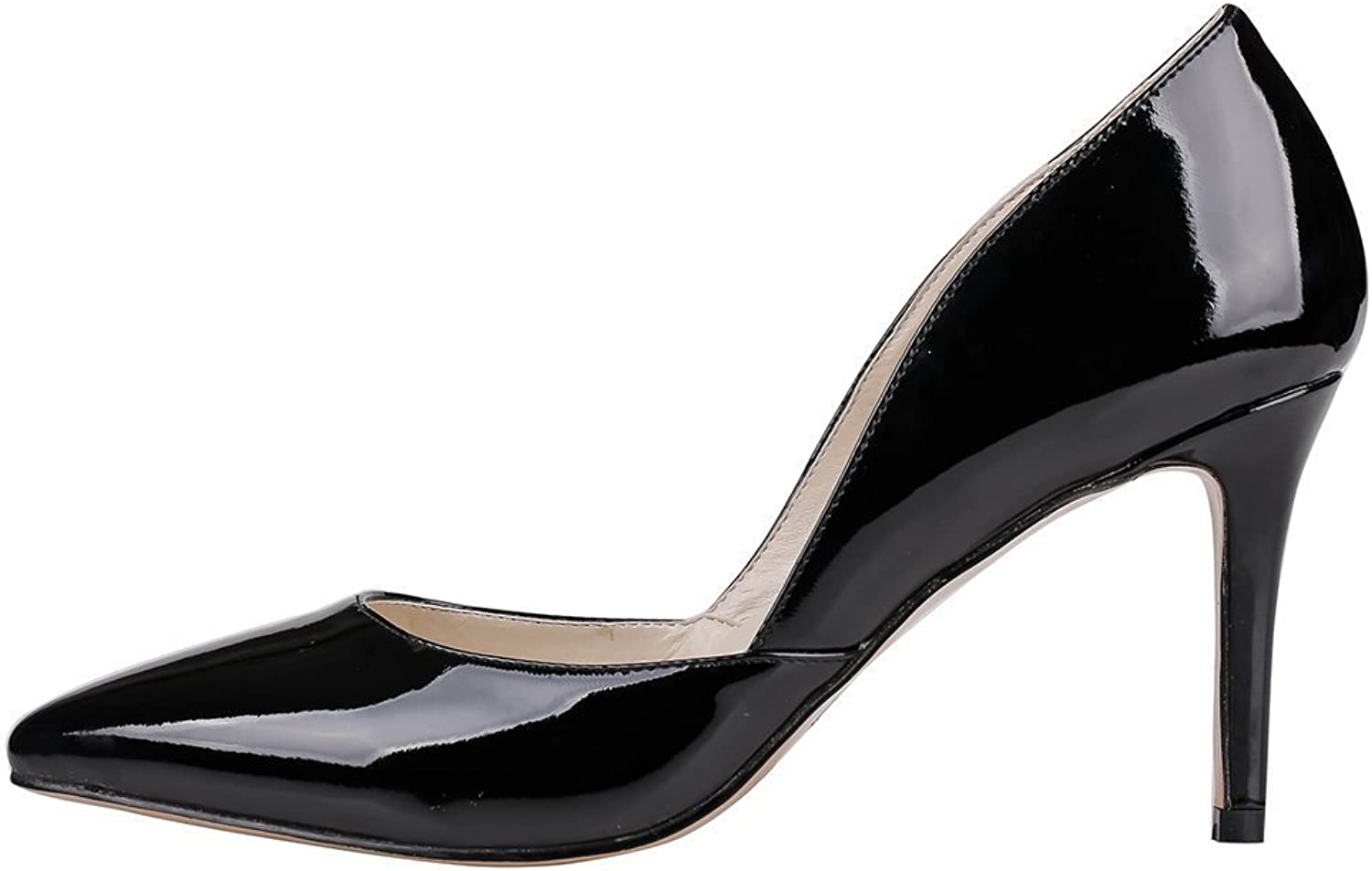 Nansay Women's shoes D'Orsay&Two-Piece Big Size Pumps Ladies shoes Pointed Toe High Heels for Party