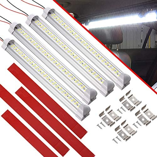 CZC AUTO LED Interior Light Bar 12V RV Strip Light Fixtures with ON Off Switch Camp Shell Light product image