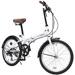 【2020モデル】マイパラス(Mypallas)折畳自転車20インチ シマノ製6段ギア サムシフト シンプル&こだわりの3色カラー スペシャルバリューバイシクル M-200 ホワイト