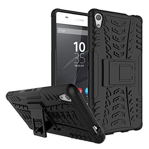 QiongniAN Funda para Sony Xperia XA Ultra,Teléfono con Soporte a Prueba de Golpes Funda para Sony Xperia XA Ultra F3211 F3212 F3213 F3215 F3216 Carcasa Case Funda Black