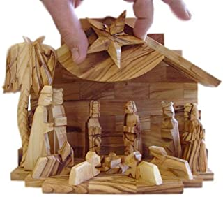 Olive Wood Silent Night Musical Nativity