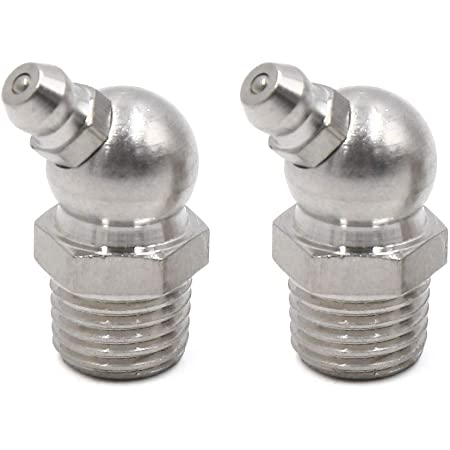 uxcell 4pcs M6 x 1 Stainless Steel 90 Degree Angle Grease Nipple Fitting for Car